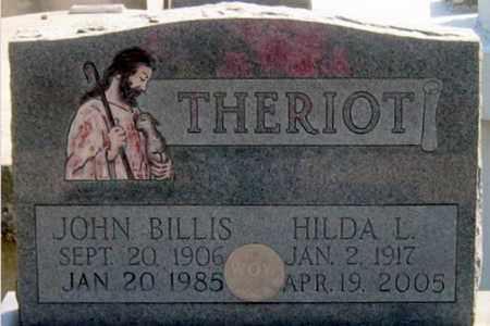 THERIOT, JOHN  BILLIS - St. Martin County, Louisiana | JOHN  BILLIS THERIOT - Louisiana Gravestone Photos