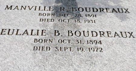 BOUDREAUX, EULALIE B  (CLOSEUP) - St. Mary County, Louisiana | EULALIE B  (CLOSEUP) BOUDREAUX - Louisiana Gravestone Photos