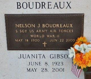 GIBSON BOUDREAUX, JUANITA - St. Mary County, Louisiana | JUANITA GIBSON BOUDREAUX - Louisiana Gravestone Photos