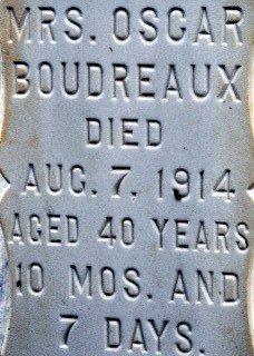 BOUDREAUX, OSCAR, MRS  (CLOSEUP) - St. Mary County, Louisiana | OSCAR, MRS  (CLOSEUP) BOUDREAUX - Louisiana Gravestone Photos
