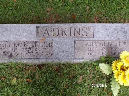ADKINS, AUSTIN BERT - St. Tammany County, Louisiana | AUSTIN BERT ADKINS - Louisiana Gravestone Photos