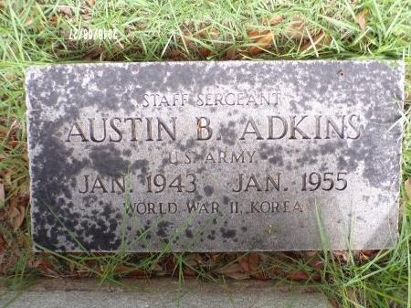 ADKINS, AUSTIN BERT (VETERAN 2 WARS) - St. Tammany County, Louisiana   AUSTIN BERT (VETERAN 2 WARS) ADKINS - Louisiana Gravestone Photos