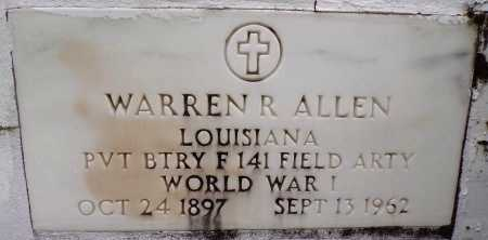 ALLEN, WARREN R (VETERAN WWI) - St. Tammany County, Louisiana | WARREN R (VETERAN WWI) ALLEN - Louisiana Gravestone Photos