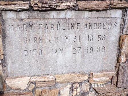 ANDREWS, MARY CAROLINE (CLOSE UP) - St. Tammany County, Louisiana | MARY CAROLINE (CLOSE UP) ANDREWS - Louisiana Gravestone Photos