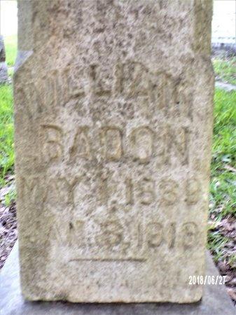 BADON, WILLIAM (CLOSE UP) - St. Tammany County, Louisiana | WILLIAM (CLOSE UP) BADON - Louisiana Gravestone Photos