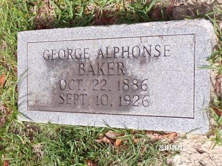BAKER, GEORGE ALPHONSE - St. Tammany County, Louisiana | GEORGE ALPHONSE BAKER - Louisiana Gravestone Photos