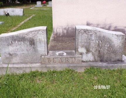 BEARD, MINNIE M - St. Tammany County, Louisiana | MINNIE M BEARD - Louisiana Gravestone Photos