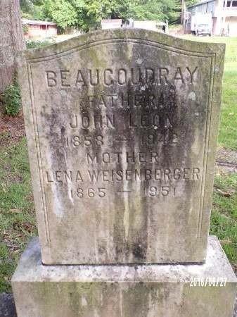 BEAUCOUDRAY, LENA - St. Tammany County, Louisiana | LENA BEAUCOUDRAY - Louisiana Gravestone Photos