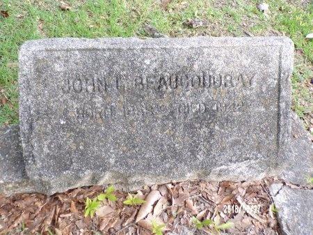 BEAUCOUDRAY, JOHN L (OLD MARKER) - St. Tammany County, Louisiana | JOHN L (OLD MARKER) BEAUCOUDRAY - Louisiana Gravestone Photos