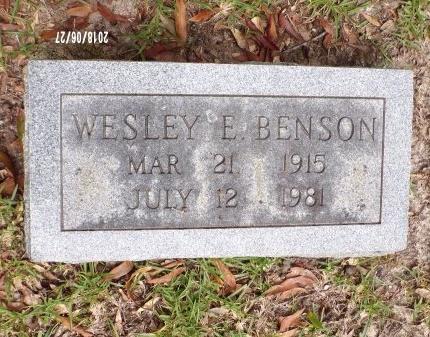 BENSON, WESLEY E - St. Tammany County, Louisiana   WESLEY E BENSON - Louisiana Gravestone Photos
