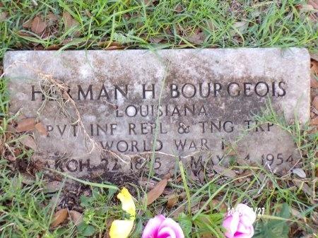 BOURGEOIS , HERMAN H  (VETERAN WWI) - St. Tammany County, Louisiana | HERMAN H  (VETERAN WWI) BOURGEOIS  - Louisiana Gravestone Photos