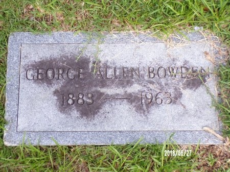 BOWDEN, GEORGE ALLEN - St. Tammany County, Louisiana | GEORGE ALLEN BOWDEN - Louisiana Gravestone Photos