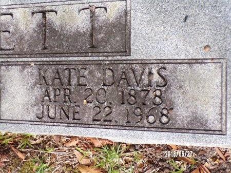 DAVIS BOYETT, KATE (CLOSE UP) - St. Tammany County, Louisiana   KATE (CLOSE UP) DAVIS BOYETT - Louisiana Gravestone Photos