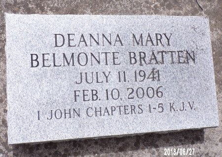 BRATTEN, DEANNA MARY - St. Tammany County, Louisiana | DEANNA MARY BRATTEN - Louisiana Gravestone Photos