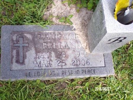 BRELAND, RYAN PATRICK - St. Tammany County, Louisiana | RYAN PATRICK BRELAND - Louisiana Gravestone Photos