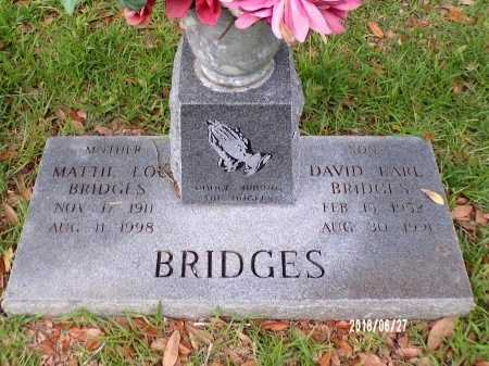 BRIDGES, DAVID EARL - St. Tammany County, Louisiana | DAVID EARL BRIDGES - Louisiana Gravestone Photos