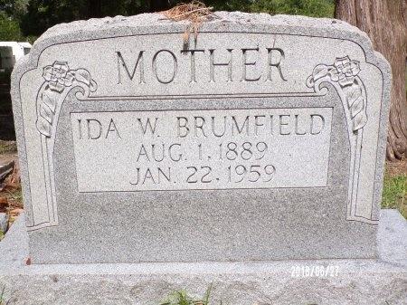 BRUMFIELD, IDA W - St. Tammany County, Louisiana | IDA W BRUMFIELD - Louisiana Gravestone Photos
