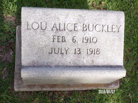 BUCKLEY, LOU ALICE - St. Tammany County, Louisiana | LOU ALICE BUCKLEY - Louisiana Gravestone Photos