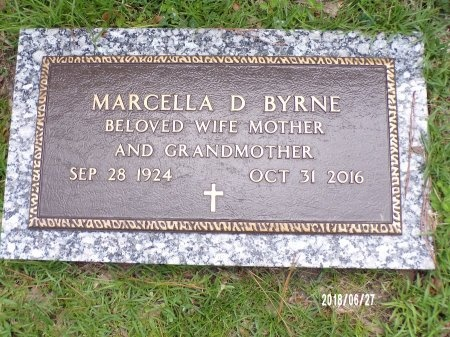 BYRNE, MARCELLA D - St. Tammany County, Louisiana | MARCELLA D BYRNE - Louisiana Gravestone Photos