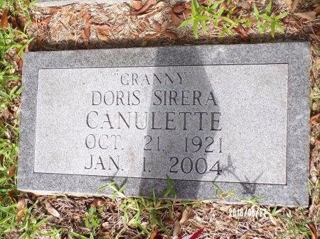 CANULETTE, DORIS SIRERA - St. Tammany County, Louisiana | DORIS SIRERA CANULETTE - Louisiana Gravestone Photos