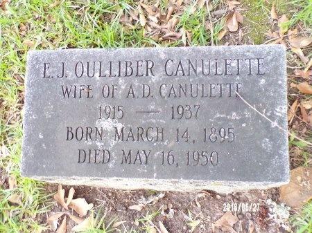 OULLIBER CANULETTE, EUGENIA J - St. Tammany County, Louisiana | EUGENIA J OULLIBER CANULETTE - Louisiana Gravestone Photos