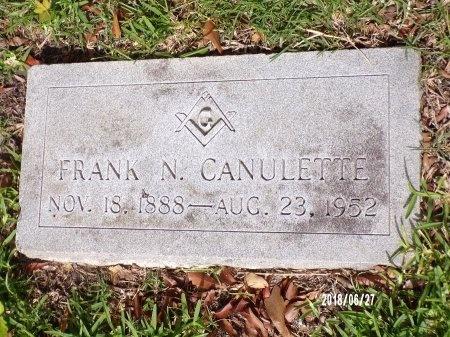 CANULETTE, FRANK N - St. Tammany County, Louisiana | FRANK N CANULETTE - Louisiana Gravestone Photos