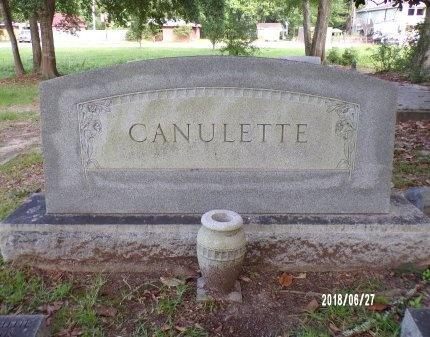 CANULETTE, MEMORIAL - St. Tammany County, Louisiana   MEMORIAL CANULETTE - Louisiana Gravestone Photos