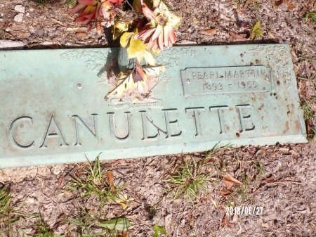CANULETTE, PEARL MARTIN - St. Tammany County, Louisiana | PEARL MARTIN CANULETTE - Louisiana Gravestone Photos