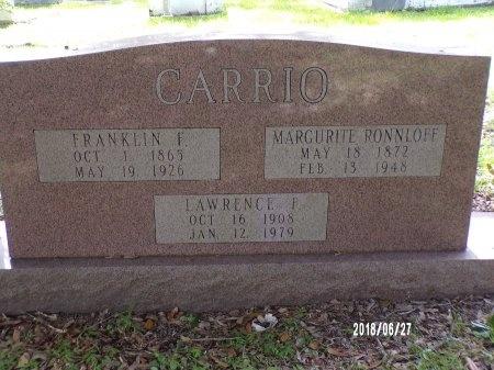 CARRIO, FRANKLIN F - St. Tammany County, Louisiana | FRANKLIN F CARRIO - Louisiana Gravestone Photos
