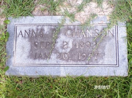 RUMMEL CHANSON, ANNA - St. Tammany County, Louisiana | ANNA RUMMEL CHANSON - Louisiana Gravestone Photos