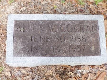COCRAN, ALLEN W, JR (CLOSE UP) - St. Tammany County, Louisiana | ALLEN W, JR (CLOSE UP) COCRAN - Louisiana Gravestone Photos