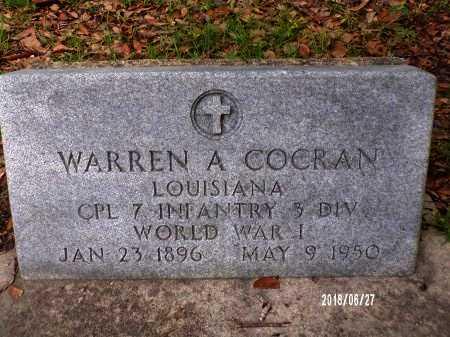 COCRAN, WARREN A (VETERAN WWI) - St. Tammany County, Louisiana | WARREN A (VETERAN WWI) COCRAN - Louisiana Gravestone Photos