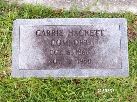 HACKETT COMFORT, CARRIE - St. Tammany County, Louisiana | CARRIE HACKETT COMFORT - Louisiana Gravestone Photos