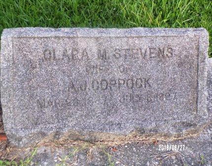 STEVENS COPPOCK, CLARA M - St. Tammany County, Louisiana | CLARA M STEVENS COPPOCK - Louisiana Gravestone Photos