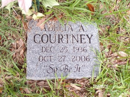 COURTNEY, ADELIA A - St. Tammany County, Louisiana | ADELIA A COURTNEY - Louisiana Gravestone Photos