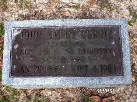 CURRIE, JOHN HENRY (VETERAN WWI) - St. Tammany County, Louisiana | JOHN HENRY (VETERAN WWI) CURRIE - Louisiana Gravestone Photos