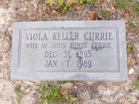 KELLER CURRIE, VIOLA - St. Tammany County, Louisiana   VIOLA KELLER CURRIE - Louisiana Gravestone Photos