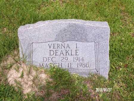DEAKLE, VERNA I - St. Tammany County, Louisiana | VERNA I DEAKLE - Louisiana Gravestone Photos