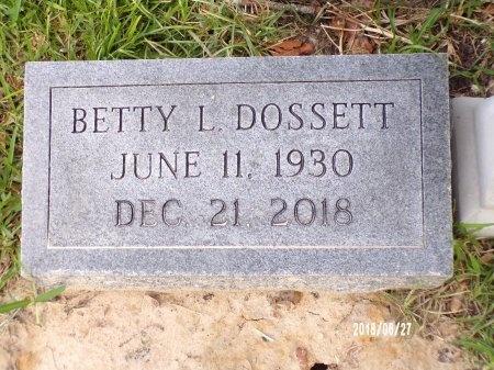 DOSSETT, BETTY L (CLOSE UP) - St. Tammany County, Louisiana | BETTY L (CLOSE UP) DOSSETT - Louisiana Gravestone Photos