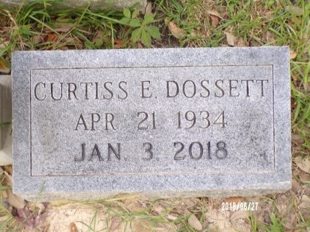 DOSSETT, CURTISS E (CLOSE UP) - St. Tammany County, Louisiana | CURTISS E (CLOSE UP) DOSSETT - Louisiana Gravestone Photos