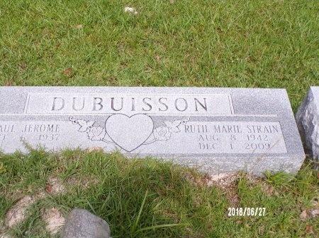 STRAIN DUBUISSON, RUTH MARIE - St. Tammany County, Louisiana | RUTH MARIE STRAIN DUBUISSON - Louisiana Gravestone Photos
