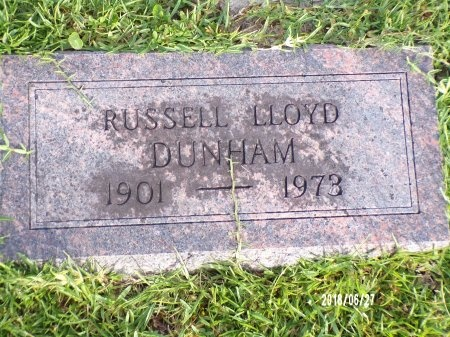DUNHAM, RUSSELL LLOYD - St. Tammany County, Louisiana | RUSSELL LLOYD DUNHAM - Louisiana Gravestone Photos