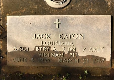 EATON, JACK  (VETERAN VIET, KIA) - St. Tammany County, Louisiana | JACK  (VETERAN VIET, KIA) EATON - Louisiana Gravestone Photos