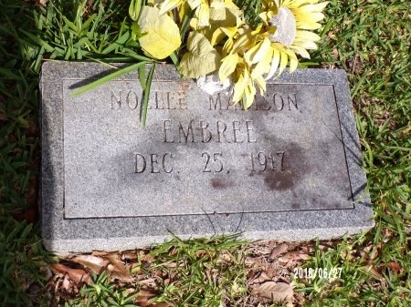 MADISON EMBREE, NOELLE - St. Tammany County, Louisiana | NOELLE MADISON EMBREE - Louisiana Gravestone Photos