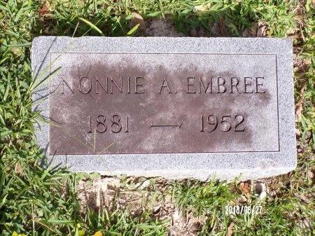 EMBREE, NONNIE A - St. Tammany County, Louisiana | NONNIE A EMBREE - Louisiana Gravestone Photos