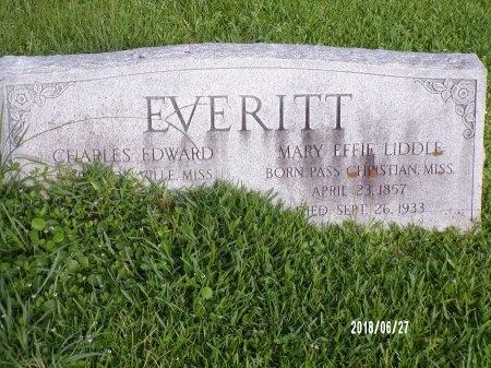 LIDDLE EVERITT, MARY EFFIE - St. Tammany County, Louisiana | MARY EFFIE LIDDLE EVERITT - Louisiana Gravestone Photos