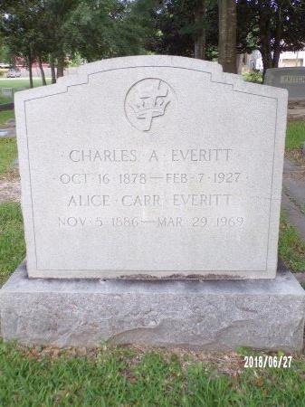 CARR EVERITT, ALICE - St. Tammany County, Louisiana | ALICE CARR EVERITT - Louisiana Gravestone Photos