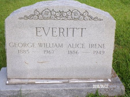 EVERITT, ALICE IRENE - St. Tammany County, Louisiana | ALICE IRENE EVERITT - Louisiana Gravestone Photos