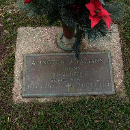 FACIANE, ALINGTON J  (VETERAN WWII) - St. Tammany County, Louisiana | ALINGTON J  (VETERAN WWII) FACIANE - Louisiana Gravestone Photos
