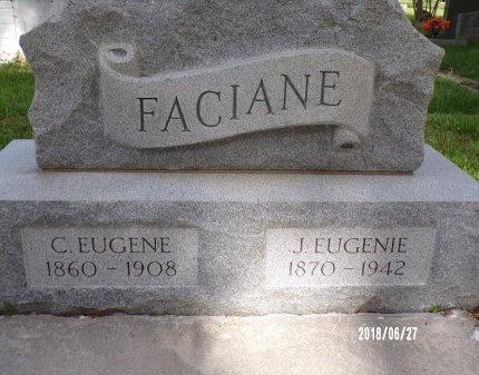 GARCIA FACIANE, J EUGENIE (CLOSE UP) - St. Tammany County, Louisiana | J EUGENIE (CLOSE UP) GARCIA FACIANE - Louisiana Gravestone Photos